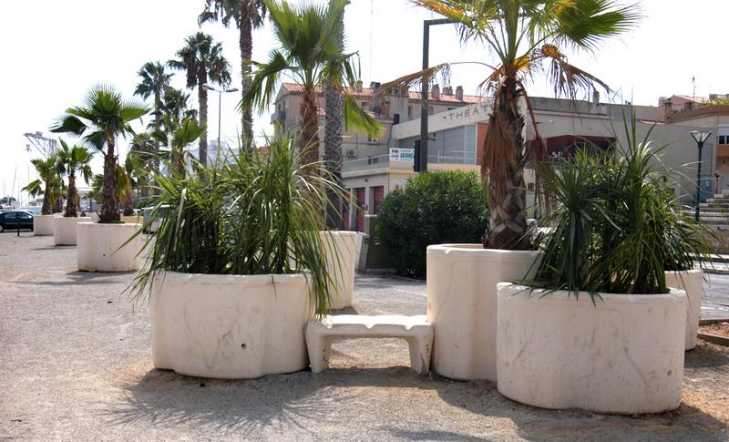Jardinières en béton Jardi square